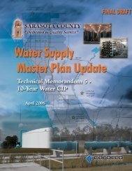 water supply master plan update - Sarasota.WaterAtlas.org