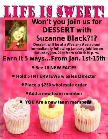 Won't you join us for DESSERT with Suzanne Black?!? - QT Office