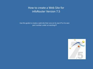 infoRouter Manual Website / Virtual Directory Creation