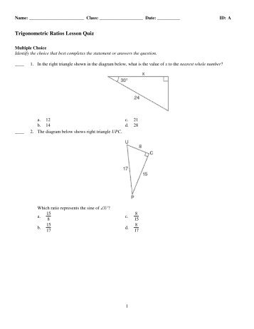 ratios and proportions quiz pdf free