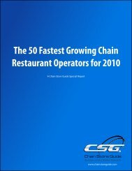 The 50 Fastest Growing Chain Restaurant Operators for 2010