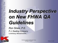 Industry Perspective on New FHWA QA Guidelines - neaupg