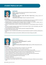 student profile 2011-2013 - Jindal Global Business School