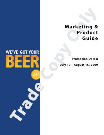 We've Got Your Beer - Doing Business with LCBO
