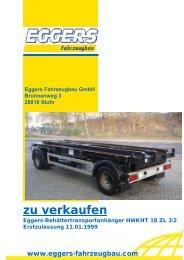 zu verkaufen - EGGERS Fahrzeugbau GmbH