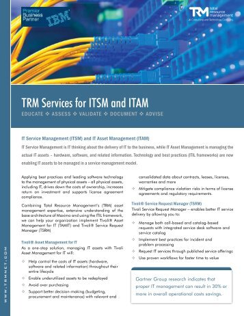 TRM Services for ITSM and ITAM - Total Resource Management