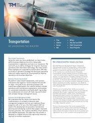 Transportation Brochure - Total Resource Management