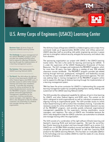 U.S. Army Corps of Engineers (USACE) Learning Center