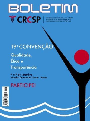 19a CONVENÇÃO PARTICIPE! - Crc SP