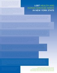Lgbt heaLth and human SeRviceS needS in new yoRk State