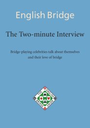 Two-minute Interview - English Bridge Union