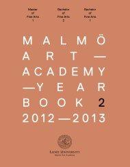 M a l M ö a r t— acadeMy —y e a r b o o k 2 2012—2013
