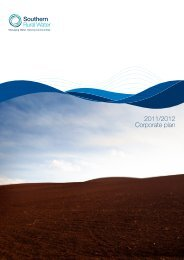 2011/2012 Corporate plan - Southern Rural Water