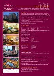 Download Hotel Fact Sheet - Grand Mercure Roxy