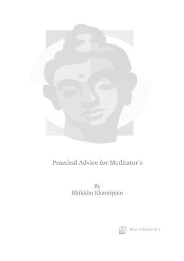 Practical Advice for Meditator's - DharmaFlower.Net