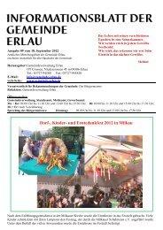 Dorf-, Kinder- und Erntedankfest 2012 in Milkau - Gemeinde Erlau