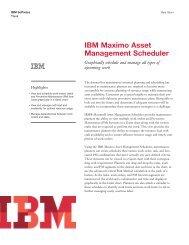 IBM Maximo Asset Management Scheduler - Total Resource ...