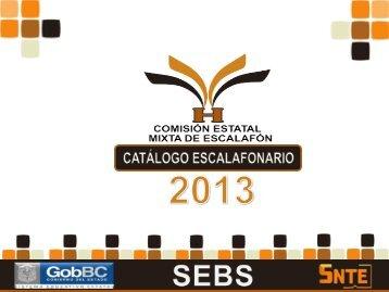 Catalago Escalafonario 2013 - Snte37.com