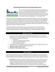 2013 National Award for Smart Growth Achievement - The Banks ...