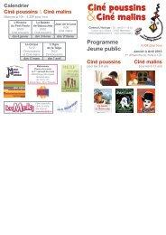 Programme janv.-avril 2013 - Cinéma l'Horloge Meximieux
