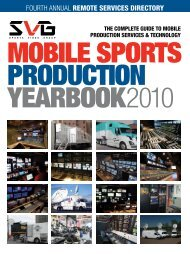 FOURTH ANNUAL Remote seRvices DiRectoRY - Sports  Video Group