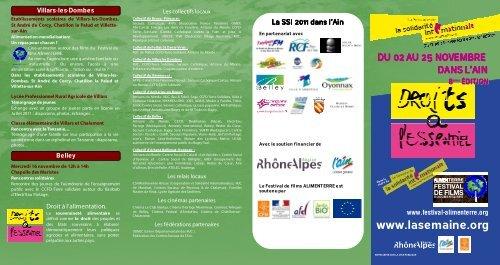 programme semaine solidarité internationale 2011 dans l'ain