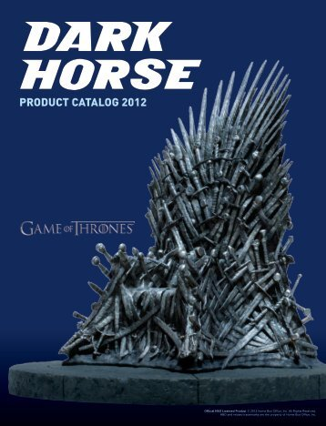 PRODUCT CATALOG 2012 - Dark Horse Comics