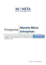 Prospectus - Moneta Asset Management