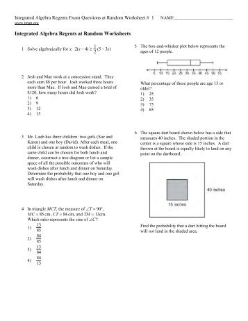 Collection Integrated Algebra Worksheets Photos - Studioxcess