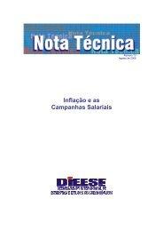 Inflação e as Campanhas Salariais - Ago/2008 - CNM/CUT