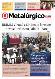 UNIMES Virtual e Sindicato formam novas turmas no ... - CNM/CUT