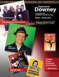 Community Services Guide - City of Downey