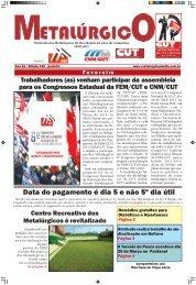 Fevereiro de 2011 - CNM/CUT