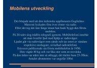 Mobilens utveckling - Teknik från Lillåns skola