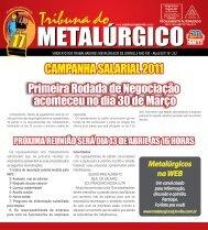 CAMPANHA SALARIAL 2011 Primeira Rodada de ... - CNM/CUT