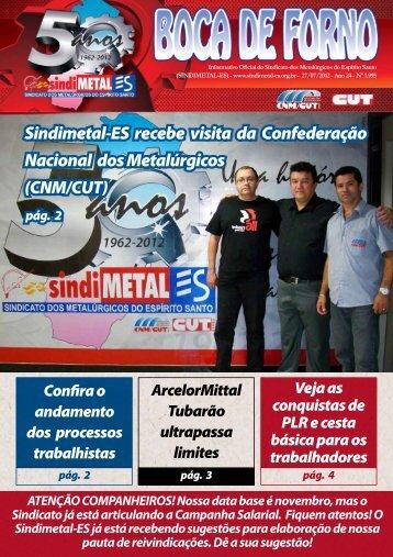 Sindimetal-ES recebe visita da Confederação Nacional ... - CNM/CUT
