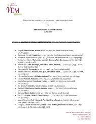 List of restaurants around the Fairmont Queen Elisabeth Hotel For ...