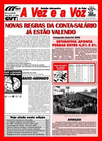 NOVAS REGRAS DA CONTA-SALÁRIO JÁ ESTÃO ... - CNM/CUT