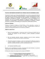PLAN DE CONTINGENCIA MUNICIPIO DE CONSACA ... - Consacá