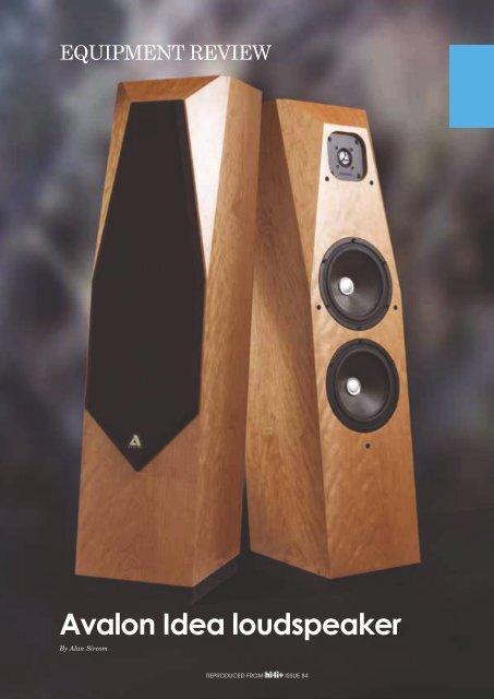 Avalon Idea loudspeaker - kog audio