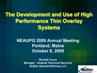 Development and Use of High Performance Thin Overlays - neaupg