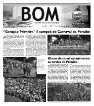 boletim oficial - Prefeitura de Peruíbe