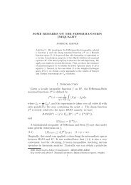 SOME REMARKS ON THE FEFFERMAN-STEIN INEQUALITY 1 ...