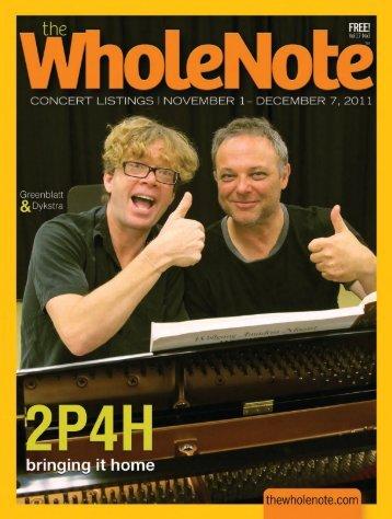 PDF Version - The Wholenote Magazine
