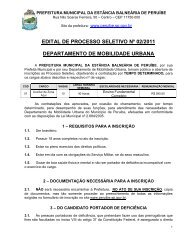 EDITAL DE PROCESSO SELETIVO Nº 02/2011 ... - Peruíbe