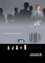 Información para pedidos Sistema de implantes ... - BIOMET 3i AR