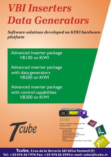 VBI Inserters Data Generators Software solutions developed on KIWI ...