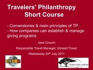 What are the Cornerstones of Travelers - Travelers' Philanthropy