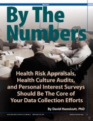 By the Numbers- All about Health Risk Appraisals
