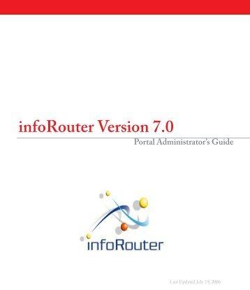 Portal Administrators Guide - infoRouter